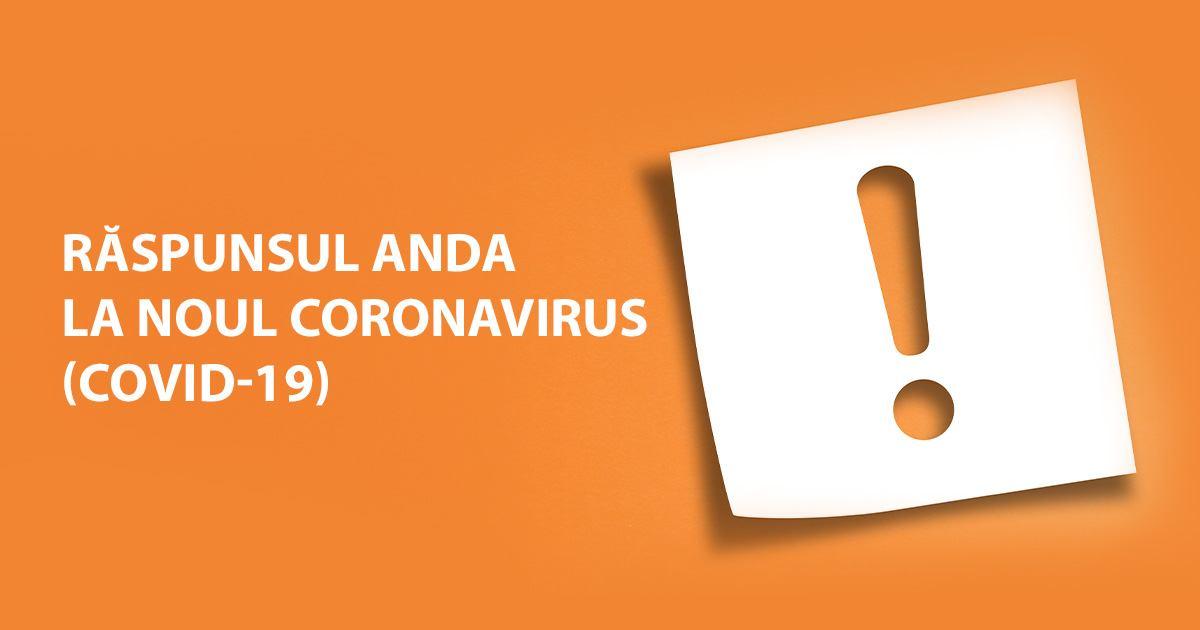Răspunsul ANDA la noul coronavirus (COVID-19)
